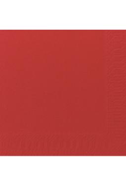 Duni 176061 Servietten 3/33x33/50/WOF RED/TP