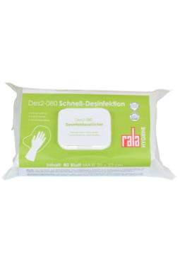 Rala DES2-080 Schnelldesinfektion 80 Tücher