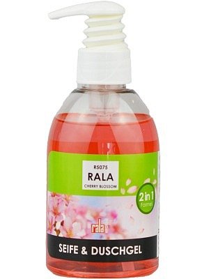 Rala Cherry Blossom Seife und Duschgel 250ml Dispenser